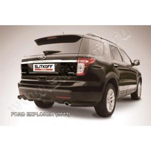 Slitkoff FEX010B защита заднего бампера уголки d76 черные Ford Explorer (2012)