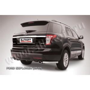 Slitkoff FEX011 защита заднего бампера уголки d57 Ford Explorer (2012)