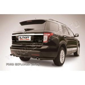 Slitkoff FEX011B защита заднего бампера уголки d57 черные Ford Explorer (2012)