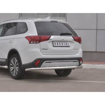 Руссталь MOZ-003211 защита заднего бампера d63 (секции) на Mitsubishi Outlander 2018-