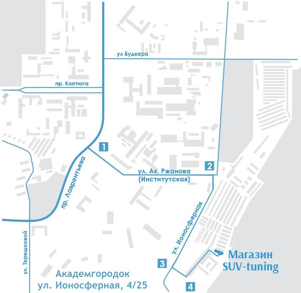 Схема проезда к магазину SUV-tuning
